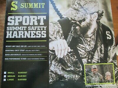 Summit sport safety harness size large tree stand, hunting