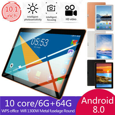 """10.1"""" Inch Tablet PC Android 8.1 6G+64GB 10 Core WIFI Dual SIM Camera Bluetooth"""