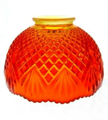 "5"" L.E. Smith Glass Conserve Vintage Red Amberina Pinapple Candle Lamp Shade"