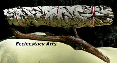 """2 California White Sage Smudge Stick- Herb -Cleansing Negativity Removal- 8-9"""""""