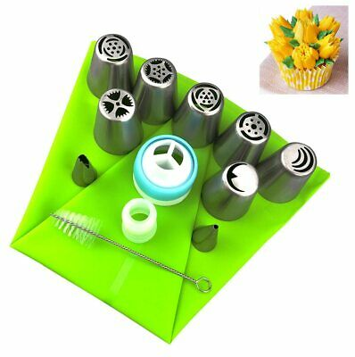 13Pcs Russian Tulip Flower Cake Icing Piping Nozzles Decorating Tips Baking Tool
