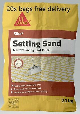 20x Sika Setting Sand | Narrow Joint Paving Filler | Jointing Compound | Buff |