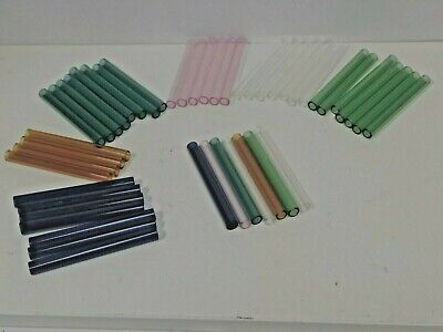 COLOR 12mm  x 2 mm thickness  (8-OD) Glass Blowing Tube Pyrex