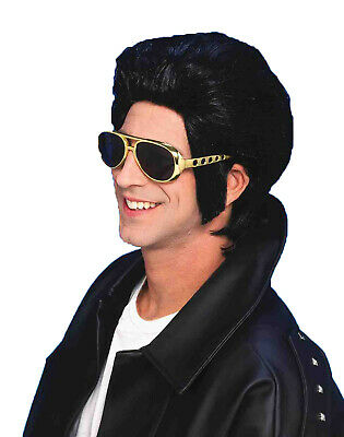 Fun Costumes Adult Deluxe Grease Danny Black Wig with Sideburns