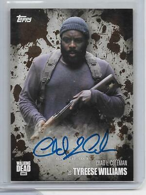 2016 Topps The Walking Dead Season 5 Autograph Mud Chad L. Coleman Auto 36/50