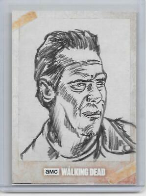 2017 Topps The Walking Dead Season 7 Sketch Card W/ Anthony Skubis Auto 1/1