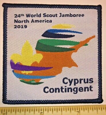 Cyprus Contingent Badge Patch 2019 24th World Boy Scout Jamboree MINT