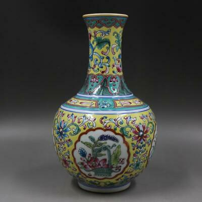 Chinese ancient antique hand make vase QIANLONG MARK a1023