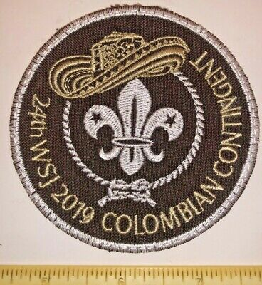 Colombia Coffee Hat Contingent Badge Patch 2019 24th World Boy Scout Jamboree