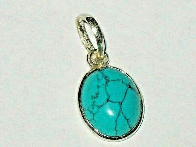 Turquoise Pendant 925 Wicca Blessed GOOD FORTUNE LUCK PSYCHIC POWERS LOVE Amulet