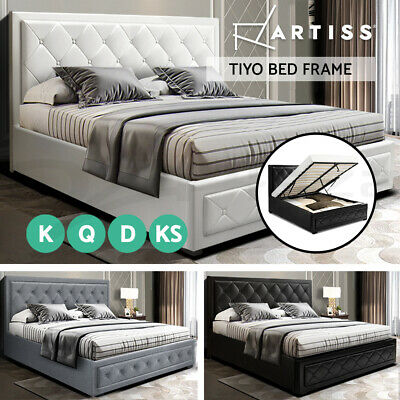 Artiss King Single Double Queen King Size Gas Lift Bed Frame Base With Storage