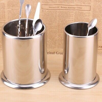 1X(Stainless Steel Kitchen Basket Receive Case Barrel To Put Chopsticks Tub2X2)