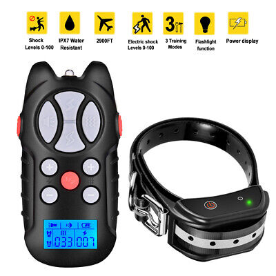 Dog Shock Collar With Remote Electric for Large Small Pet Training 875 Yards