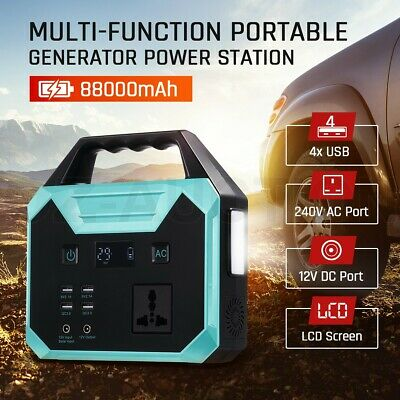 DASHOTO 88000mAh Portable Generator Charging Power Station Camping Backup Energy