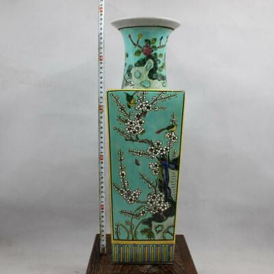 Chinese ancient antique hand make Flower and bird vase a1072