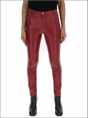 Authent Isabel Marant Etoile Dark Red Faux Leather Trousers Jan Sz 40 Fr