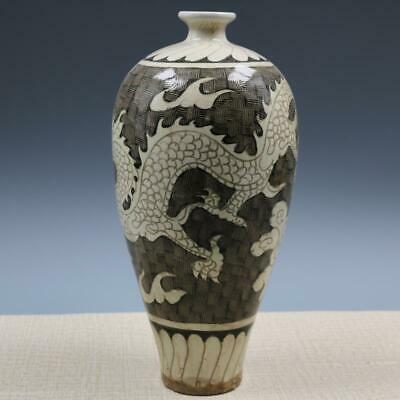 Chinese ancient antique hand make Dragon pattern vase a1086