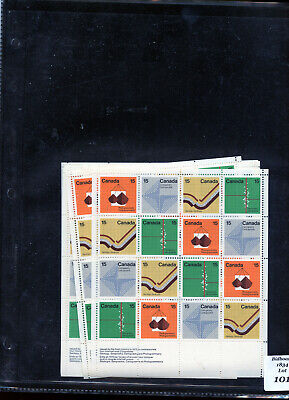 Canada 582-585 Lot of 23 full pane sheets of 16  Co87