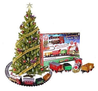 Deluxe Christmas Express Toy Train Set With Lights & Sounds - Tree Decorations