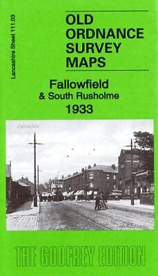 Old Ordnance Survey Map Fallowfield & South Rusholme 1933 Brook Road