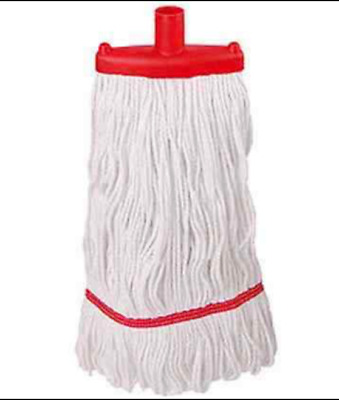30 Abbey Prairie Socket Stay Flat Mop Heads 16oz  450g Plain Cotton -