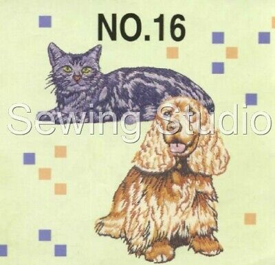Brother #16 - Dogs & Cats Designs - Machine Embroidery Designs On Cd Or Usb