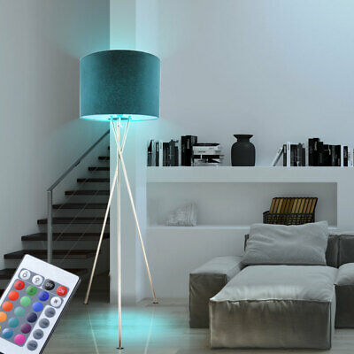 RGB LED Stand Lamp Textile Living Sleep Room Stand Lamp Dimmable Remote Control