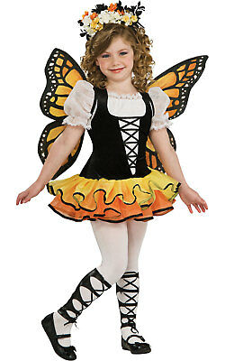 Girls Kids Childs Monarch Butterfly Tutu Fancy Dress Costume Outfit Insect Fairy