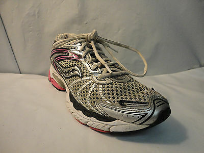 SAUCONY GRAY, PINK, Silver Ride 3 Running Shoes Women's 8 US