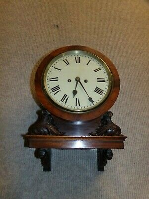 antique double fusee wall clock