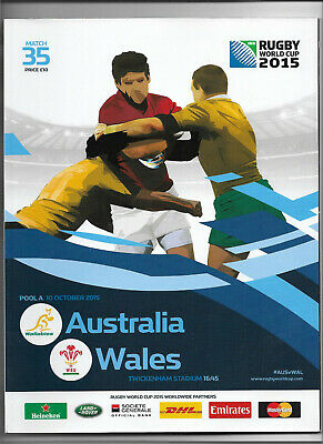 2015 IRB Rugby World Cup match 35 - WALES v. AUSTRALIA (official programme)