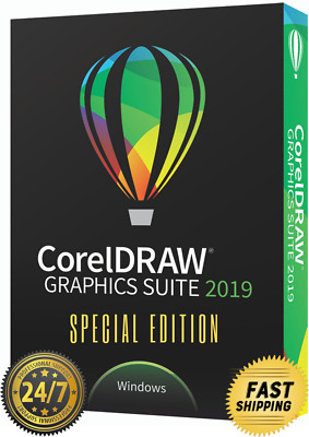 CorelDRAW Graphics Suite 2019 🌟 Limited Edition 🌟 Unlimited Users and PC 🔑