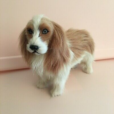 Antique Vintage Cavalier King Charles Spaniel Fur Dog Figurine
