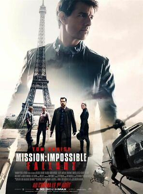 AFFICHE ORIGINALE - Mission : Impossible FALLOUT - 2018 - Tom Cruise - 40x60cm -