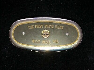Vintage Metal Advertising Coin Bank, The First State Bank West Bend, WI