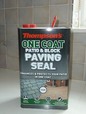 2 cans Thompson's Clear One Coat Patio & Block Paving Seal - 10 litres