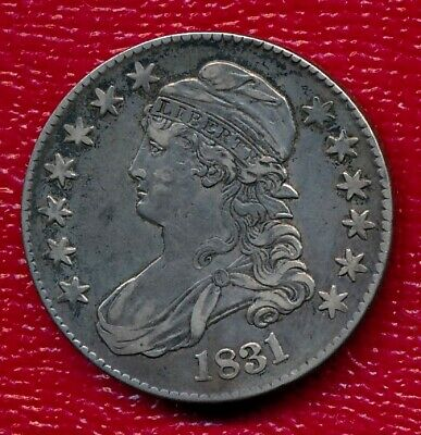 1831 Capped Bust Silver Half Dollar **Nicely Circulated** Free Shipping!!