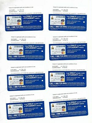 Citi Bank Expired in 2000 Metrocard Lot of 8 NYC Transit Cards