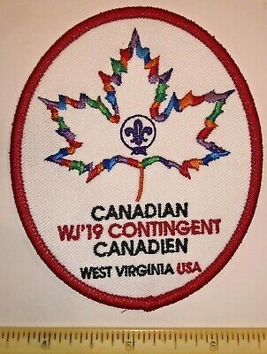 Canadien Canadian Contingent Oval Badge Patch 2019 24th World Boy Scout Jamboree