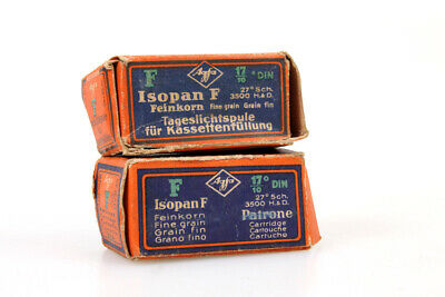 Agfa Isopan F 24x36mm - Vintage Expired Film (Lot of 2)