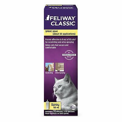 Feliway Spray for Cats 60 ml Reduces Stress, Urine Spraying & Scratching