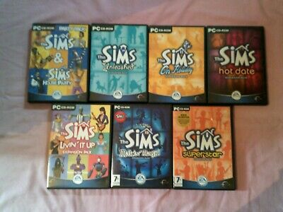 The Sims 1 - Base Game & All 7 Expansions - Complete Collection Pc Game Bundle P