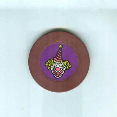 Circus Circus Casino Chip--Clown Roulette--Brown
