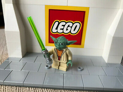 Lego Star Wars Figure Yoda Grey Hair With Lightsaber Sw219 From Sets 7964 8018