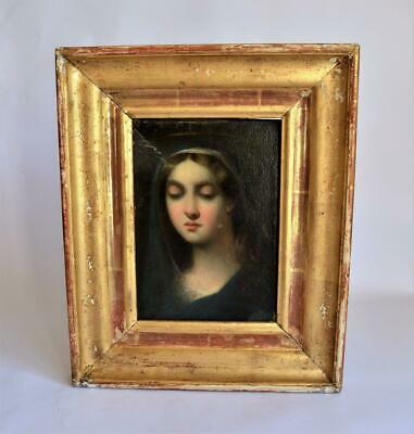 VERY FINE ANTIQUE 18thC ITALIAN OLD MASTER OIL PORTRAIT PAINTING OF THE MADONNA
