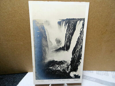 1910 RPPC Photo Postcard South Africa Rhodesia Victoria Falls From North Bank