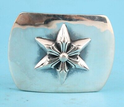 Rare China 925 Silver Belt Buckle Handmade Star Crafts Fashion Cool Gift