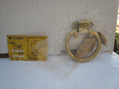 "NOS! LOT of 6 VINTAGE IVES 2-1/2"" DOOR / DRAWER DROP RING PULL, 422B3, BRASS"