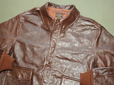 US Army AAF WW2 EASTMAN PILOT STAR A-2 DARK HORSEHIDE LEATHER FLIGHT JACKET Coat