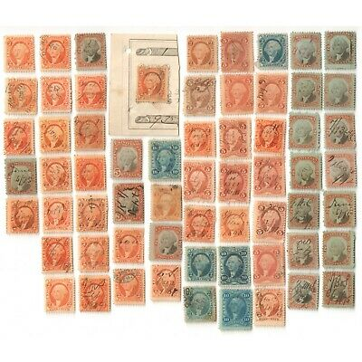 US Mixed USIR George Washington Revenue Stamps